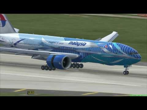 FSX PMDG 777 Flight from KLAX to KTPA [Start/Landing]