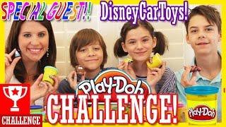getlinkyoutube.com-PLAY DOH CHALLENGE WITH DISNEY CAR TOYS!  | DISNEYCARTOYS &  KITTIESMAMA COLLAB!