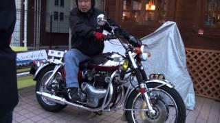 getlinkyoutube.com-旧車 白バイ 交通機動隊 W1 W650cc Kawasaki 650W1S W2SS カワサキ・W 旧車 ドリームメイク Motorcycle