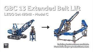 getlinkyoutube.com-LEGO GBC Extended Belt Lift Module + PDF Building Instructions - 42042 F model Crawler Crane