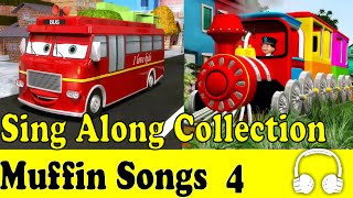 getlinkyoutube.com-Wheels on the Bus & Muffin Songs Collection 4 - Children Nursery Rhymes