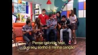 getlinkyoutube.com-Violetta : Alunos cantam Ven y Canta / legendado.