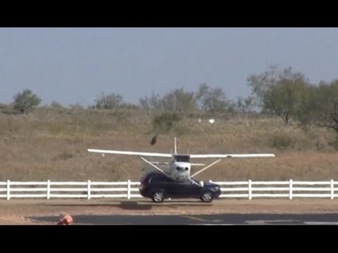 Plane Collides with SUV While Landing at Texas Airport