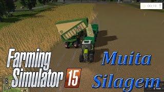 getlinkyoutube.com-Farming Simulator 15 -VOSGES- Muita Silagem