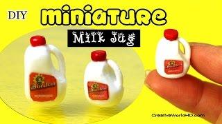 getlinkyoutube.com-Miniature Gallon of Milk/DIY Dollhouse for Dolls by Creative World