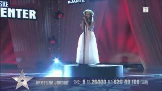 "getlinkyoutube.com-Amazing 8 Year Old Angelina Jordan Sings ""Shot Me Down"" Bang Bang On Norway's Got Talent"