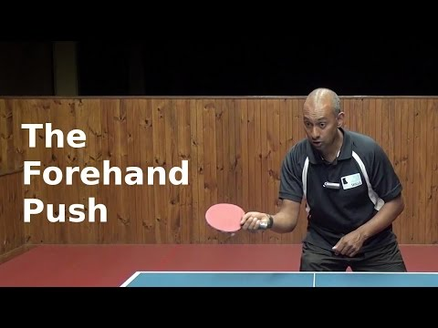 Forehand Push in Table Tennis