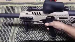 getlinkyoutube.com-Suppressed Glock 19 SBR in EMA Tactical RONI Conversion Kit