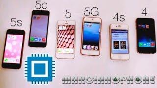 getlinkyoutube.com-5s vs 5c vs 5 vs 5G vs 4s vs 4 (Velocidad)