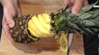 getlinkyoutube.com-4 Ways How To Cut And Serve Pineapple