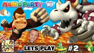 getlinkyoutube.com-Lets Play MARIO PARTY 10! Dry Bowser Boss Battle in Chaos Castle (FGTEEV FAMILY GAMEPLAY Part 2)