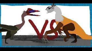 getlinkyoutube.com-Pivot Battle Arena: Quetzalcoatlus VS Therizinosaurus