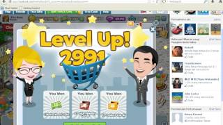 getlinkyoutube.com-Cheat Marketland Level Up (instant) Gold and Cash