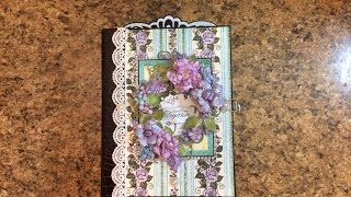 getlinkyoutube.com-PART 1 TUTORIAL 7 X 9 MINI ALBUM WITH HEARTFELT CREATIONS BLUSHING ROSE COLLECTION   Designs by Shel