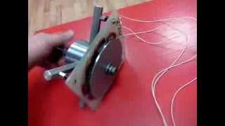 getlinkyoutube.com-Самодельный генератор для ветряка из Неодимовых магнитов ТЕСТ
