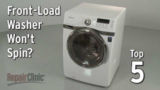 Front-Load Washer Won't Spin — Washing Machine Troubleshooting