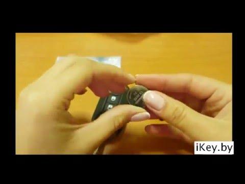 Замена батарейки в выкидном ключе ФИАТ 500, Пунто, Дукато, Добло, Лянча, Кубо, Браво