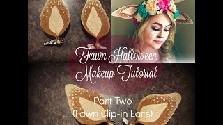 getlinkyoutube.com-Fawn Halloween Makeup Tutorial |PART TWO [ Clip-in fawn ears]