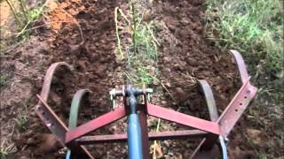 getlinkyoutube.com-3 Point Cultivator for weed control in a large garden