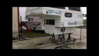 getlinkyoutube.com-1996 Shadow Cruiser 7' Slide in Pop Up Truck Camper