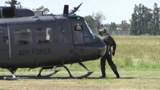 getlinkyoutube.com-3 SQN RNZAF  BELL UH-1 HUEY START UP & HOVER TAXI