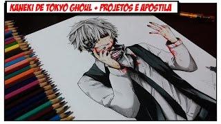 getlinkyoutube.com-Desenhando Kaneki de Tokyo Ghoul + Novidades Canal (Apostila, Mural e +)
