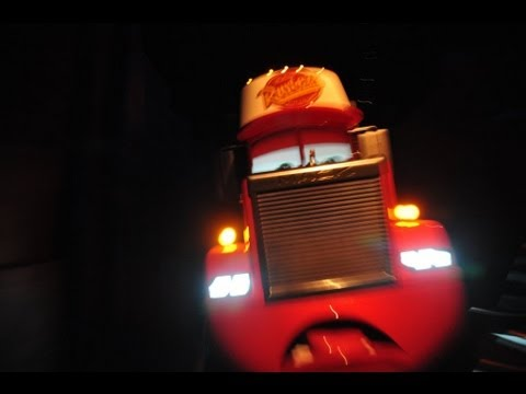 Radiator Springs Racers Ride POV at Dark - Carsland California Raceway