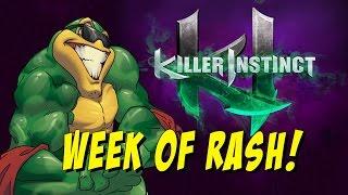getlinkyoutube.com-WEEK OF! Rash Online Matches - Killer Instinct S3 Beta