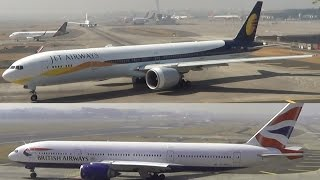 getlinkyoutube.com-JET AIRWAYS BOEING 777 & BRITISH AIRWAYS BOEING 777 LANDING AT MUMBAI AIRPORT