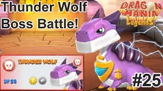 getlinkyoutube.com-Thunder Wolf Boss Fight + Banana Dragon! - Dragon Mania Legends PC Walkthrough Part 25
