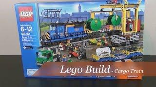 getlinkyoutube.com-Lego Build - Lego City Cargo Train Set #60052 - Part1