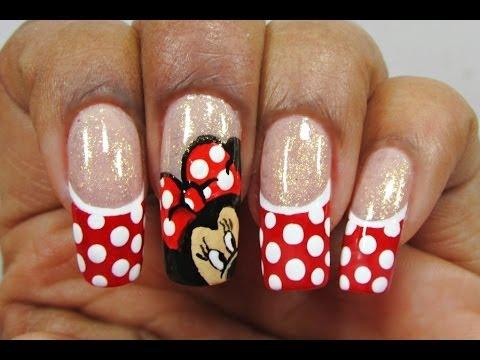 Unhas da Minnie Mouse - Nail Art