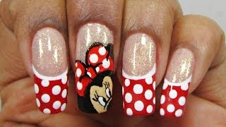 Unhas da Minnie Mouse - Nail Art