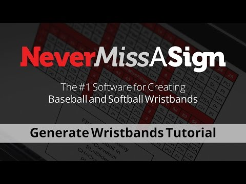 Generate Wristbands using Never Miss A Sign 3.0