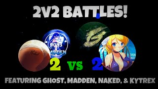 Agar.io 2v2 Battles! // With Ghost, Naked, & Kytrex // Vanishsplit and Popsplit!