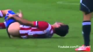 getlinkyoutube.com-Atletico Madrid Striker Diego Costa Accidentally Loses His Shorts And Undercrackers vs Osasuna