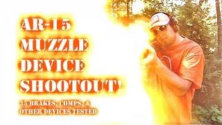 getlinkyoutube.com-AR-15 Muzzle Brake Shootout! 35 muzzle devices tested...
