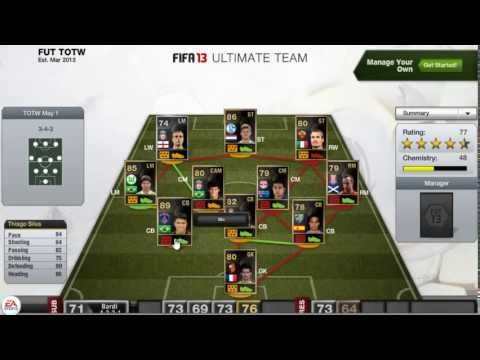 FIFA 13 TOTW ft. SIF Thiago Silva, SIF Benteke and IF Huntelaar