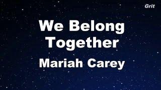 getlinkyoutube.com-We Belong Together - Mariah Carey Karaoke【With Guide Melody】