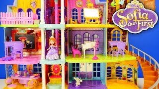 getlinkyoutube.com-NEW Disney Princess Giant Doll House Sofia The First Magical Royal Castle Prep Academy Toys