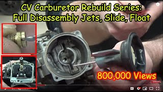 """getlinkyoutube.com-01 """"How to"""" CV Carburetor : Disassembly Recording Jets and Settings Cleaning Carb Rebuild Series"""