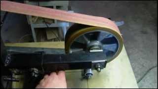 getlinkyoutube.com-Home Made Belt Grinder for Making Knives.