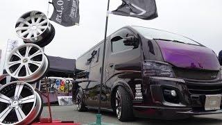getlinkyoutube.com-(4K)BODYLINE NISSAN CARAVAN NV350 custom 日産キャラバンNV350カスタム - スーパーカーニバル2015