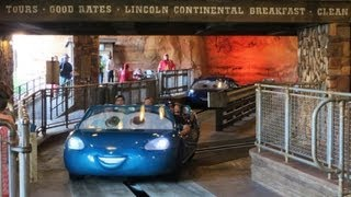 Radiator Springs Racers (full ride) HD POV at Disneyland's Cars Land
