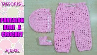 getlinkyoutube.com-DIY como tejer pantalon para bebe a crochet, ganchillo AJUAR