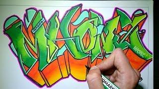 getlinkyoutube.com-Drawing Graffiti on paper - Maonz