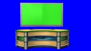getlinkyoutube.com-Virtual TV Studio Background - green screen