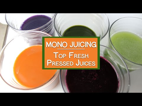 Vegetable Juice Cleanse, Top Mono Juices and Their Health Benefits