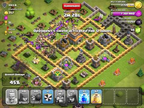 Clash of Clans  ATTACK STRATEGY barbarians and archers pt.10