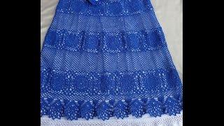 getlinkyoutube.com-ВЯЗАНИЕ ЮБКИ. Часть 3. Вязание пояса и кокетки юбки крючком.How to tie skirt.